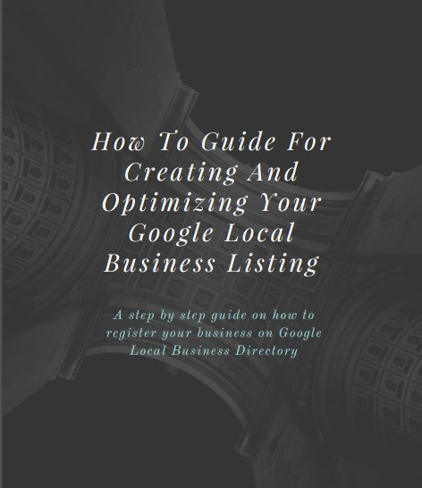 Google local business signup Ebook